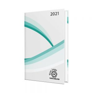 Coverlux Full Colour A4 Diary - White Paper - Day per Page