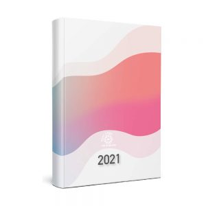 Coverlux Full Colour Quarto Desk Diary - White or Cream Paper - Week to View