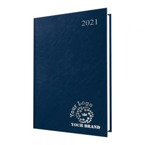 FineGrain A5 Desk Diary Blue - White Paper - Day per Page