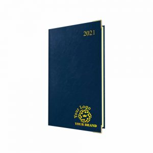 Deluxe FineGrain Pocket Diary Blue - Cream Paper - Week to View