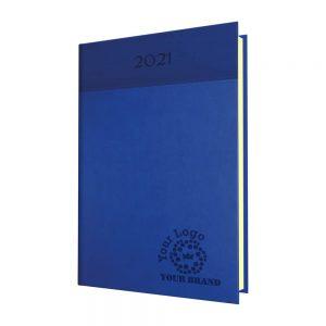 NewHide Horizon Quarto Desk Diary Blue/Royal Blue - Cream Paper - Week to View