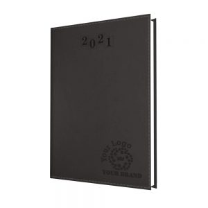 NewHide Flexible A5 Desk Diary Graphite - White Paper - Week to View
