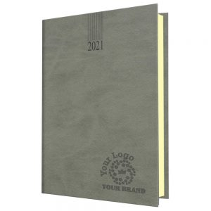 NewHide A5 Desk Diary Grey - Cream Paper - Day per Page