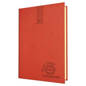 NewHide Quarto Desk Diary Red - Cream Paper - Week to View