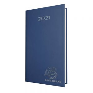 SmoothGrain Pocket Diary Royal Blue - White Paper - Week to View